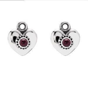Pandora Retired Small Hearts Earrings & Hooks